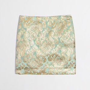 New J. Crew Factory Metallic Brocade Mini Skirt